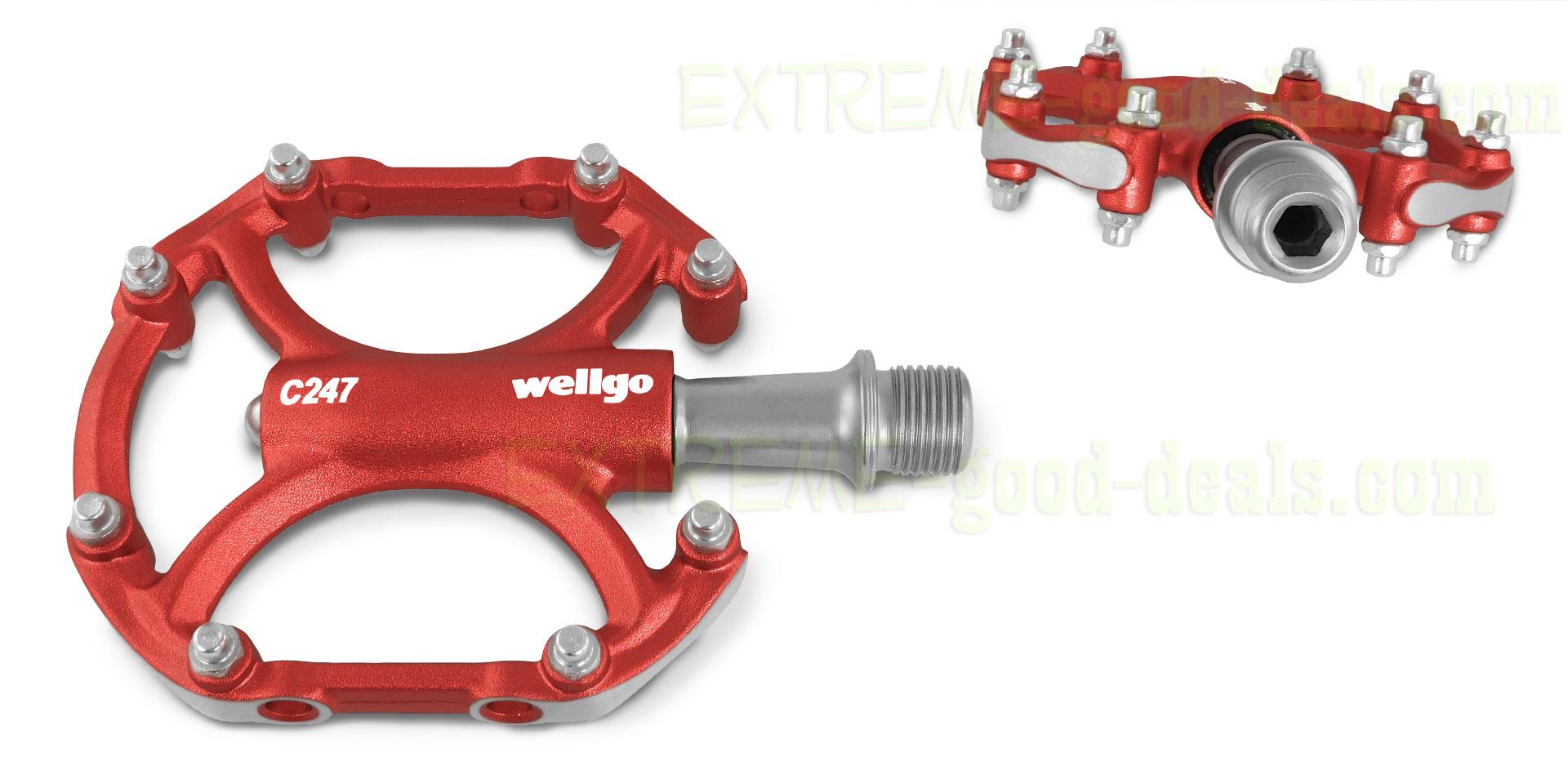 Wellgo C247 Aluminum Alloy Platform Bike Pedals Anodized